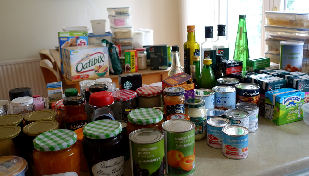 Decluttering the food cupboards